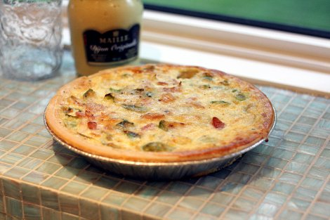 Ham and Brussels Sprout Quiche